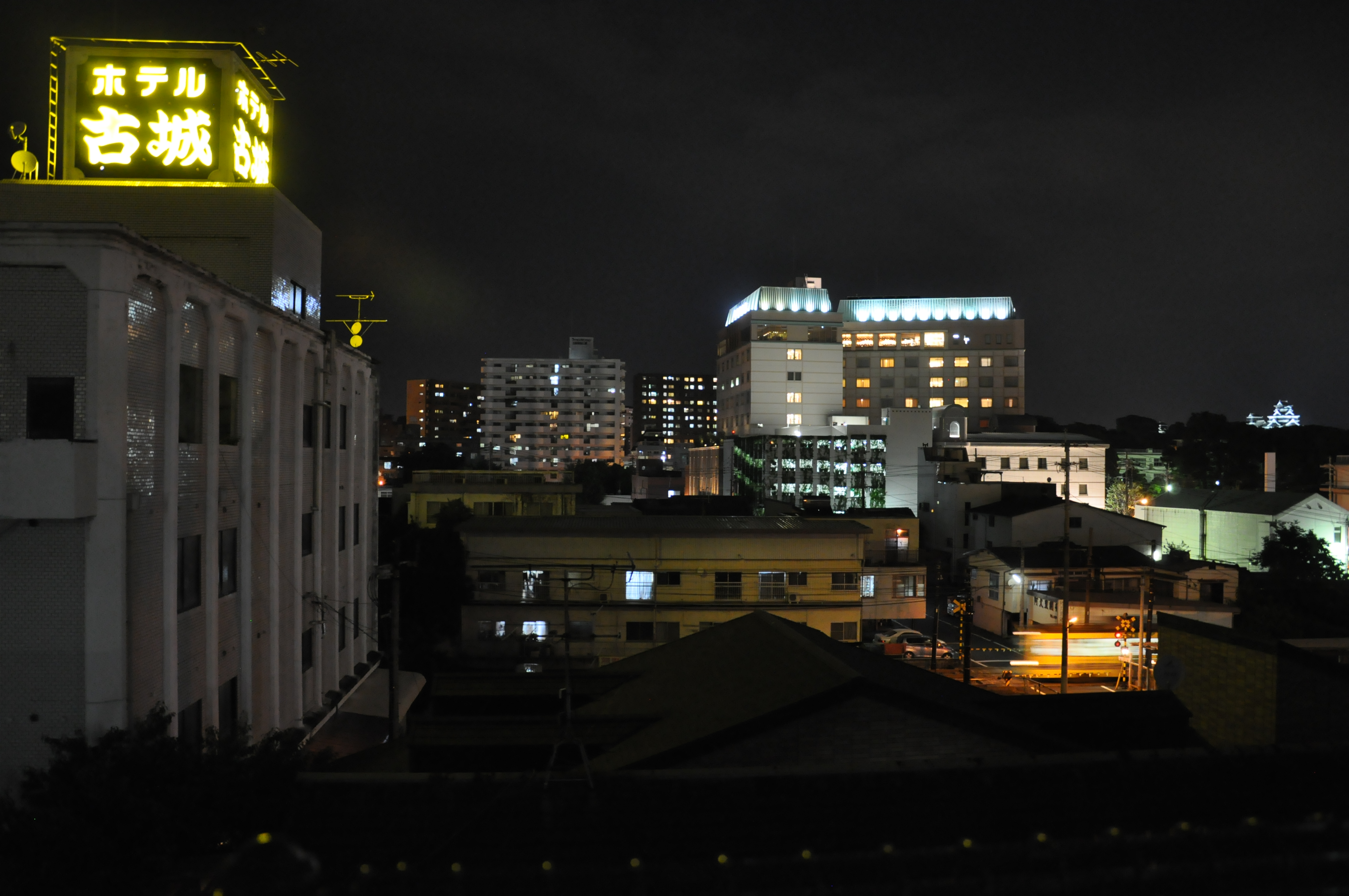30 Relaxing Night View Of Kumamoto Atop My Hostel Roof