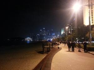 Haeundae Beach at Night (Cameraphone photo)