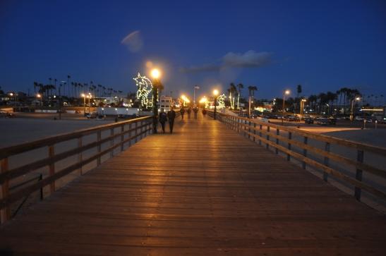 Seal Beach Pier at night - Seal Beach, California