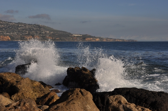 Waves crashing against the rocks - Rancho Palos Verdes, California
