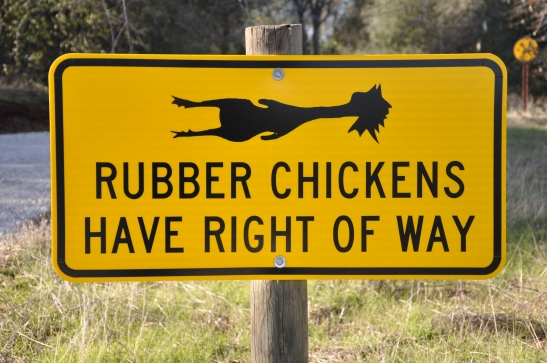 Weird signs like this @ Twisted Oak Vineyard - Murphys, California