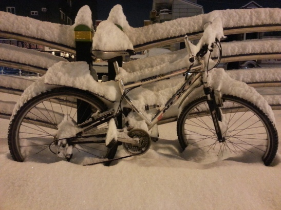 Bike Covered in Snow - Gimpo, South Korea