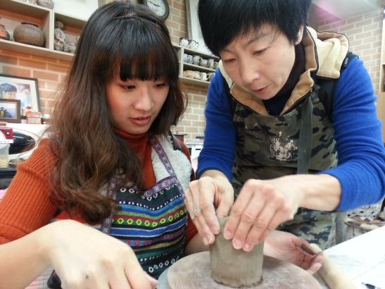 Ceramics lesson from one of the nicest teachers