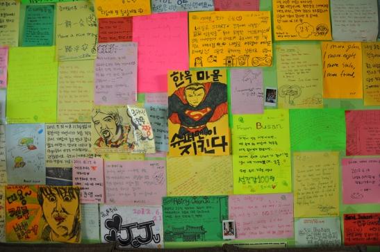 Art Message Wall inside Jeonju Guesthouse