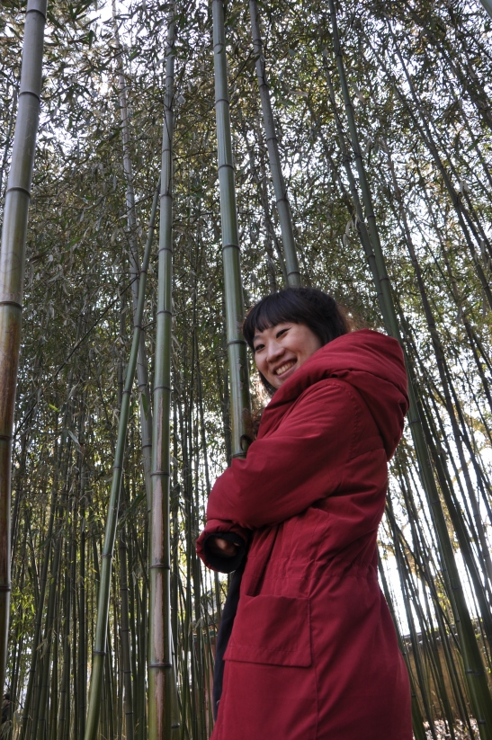 Michelle within Bamboo City - Jeonju, South Korea