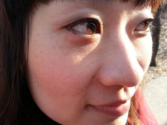 Michelle's eyes in the sun