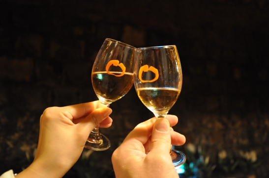 Persimmon Wine Glasses