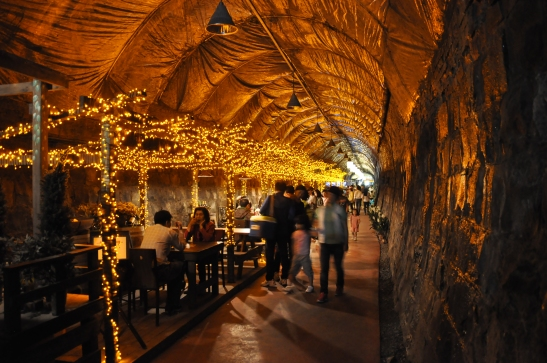 Table area inside Persimmon Wine Cave - Cheongdo, South Korea