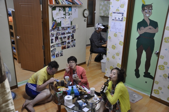 Chilling inside Peter Pan Guesthouse - Daegu, South Korea