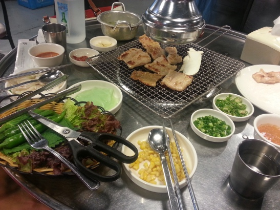 Cow stomach, a Daegu specialty