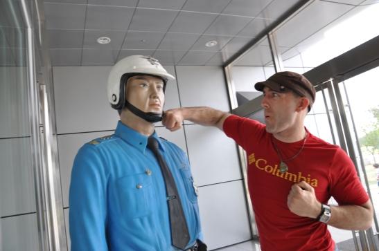 Punching a Cop