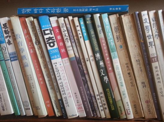 (6) Shelf of Korean books