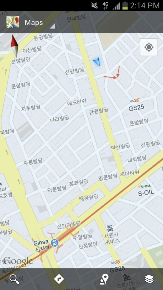 Directions:  Sinsa Station Exit 8 Take a right at Garosugil Then...