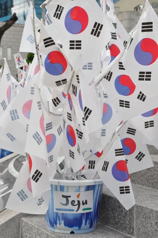 Bundle of Korean Flags