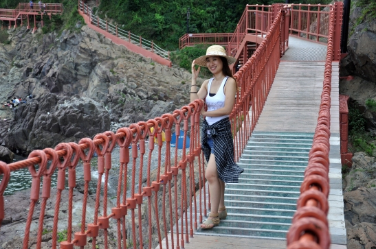 Michelle on Suspension Bridge - Photo 3