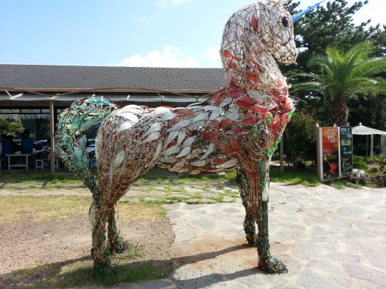 Glass Horse at the Glass Museum - Seogwipo
