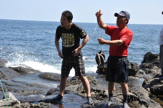 Seogwipians Catching Fish