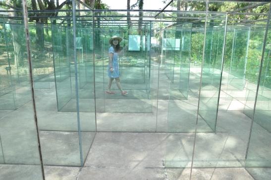 Glass museum maze