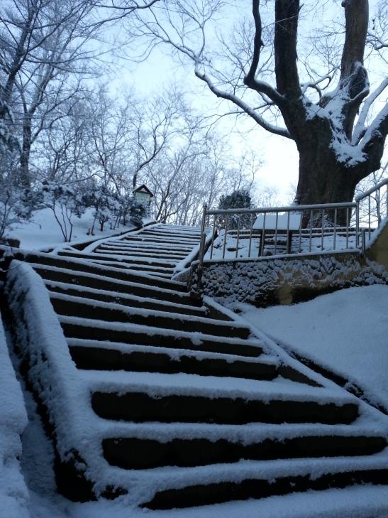 Snow staircase -