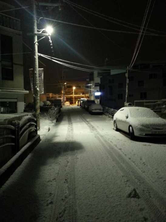 Snow Street - Gimpo, South Korea