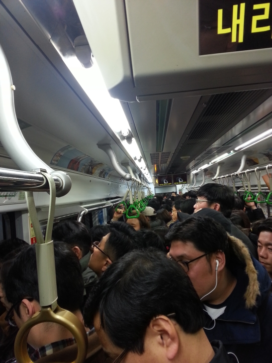 Seoul Subway Traffic on Christmas Day