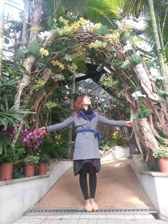 (10) Michelle under plant arch