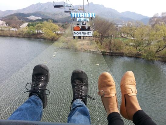 (2) Hanging Feet