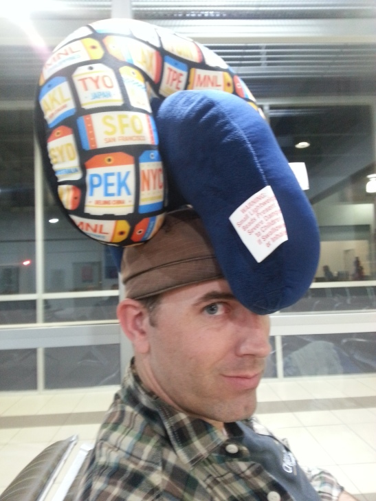 Neck pillow hat