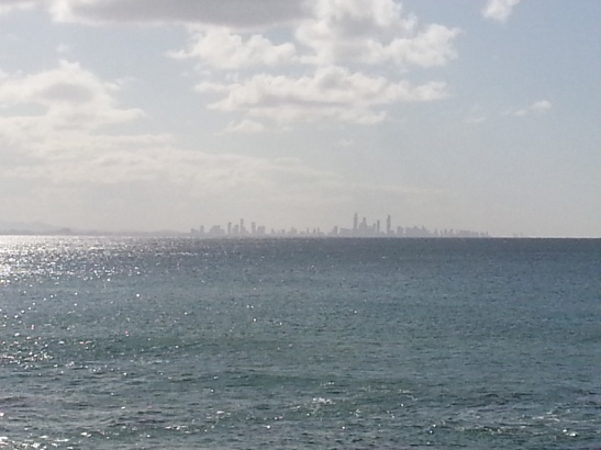 Gold Coast city in the distance